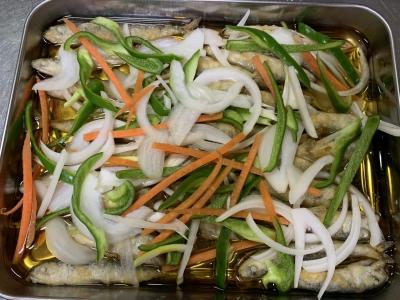 野菜をのせる