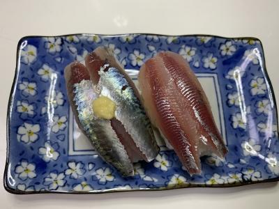 サバとウルメイワシの握り寿司