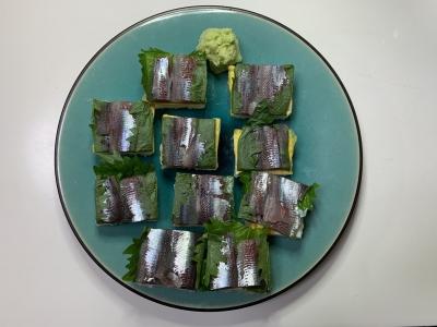 ウルメイワシの押し寿司