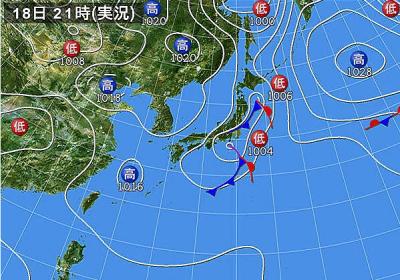 2021年9月19日 天気図
