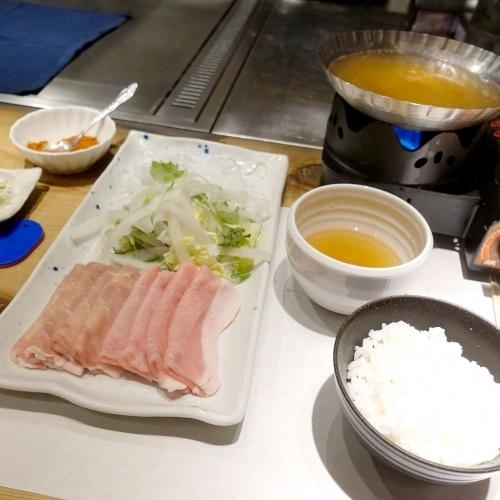 淀屋 しゃぶしゃぶ食べ放題ランチ (3)