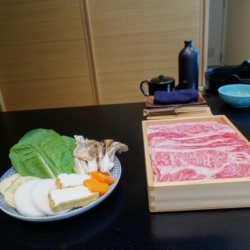 きつね すき焼き ランチコース (32)