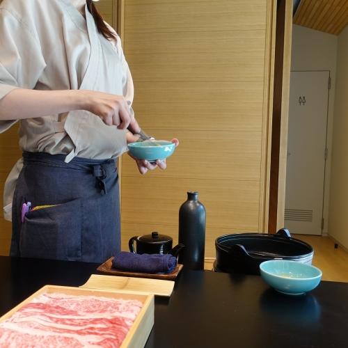 きつね すき焼き ランチコース (36)