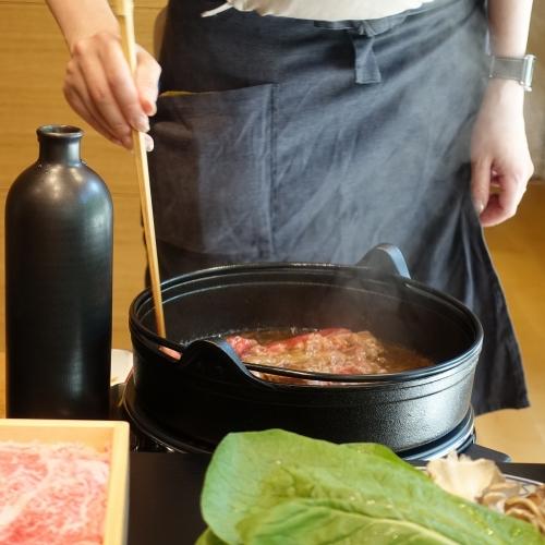 きつね すき焼き ランチコース (43)