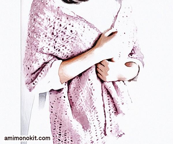 無料編み図かぎ針編みシェル模様のショール便利オーソドックス1