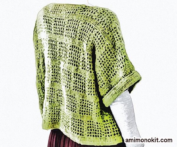 無料編み図プルオーバーかぎ針編みスクエアベスト1