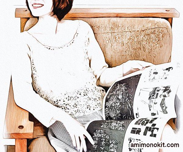 無料編み図サマーセーター透かし模様レーシー上品モチーフ4