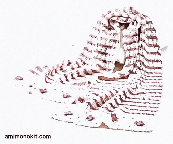 無料編み図ショール絹ガーリー可愛い羽織りものストール3