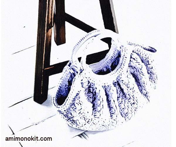 無料編み図バッグかぎ針編みグランマbag持ち手2