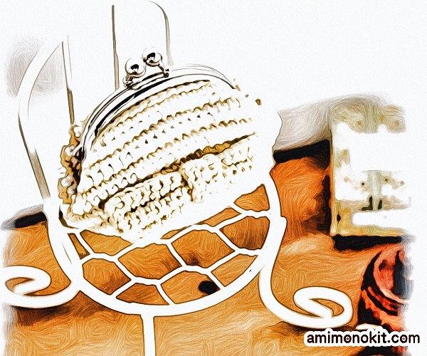 無料編み図Free Crochet Patternコインケースかぎ針編み簡単1