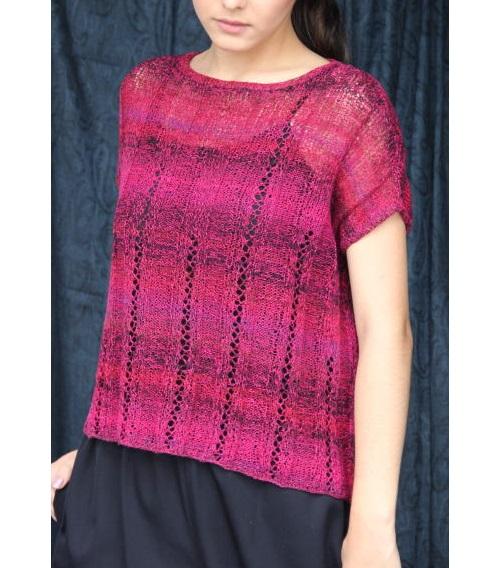 編み物キットプル野呂英作千代紙縦ラインゆったりプルとショール