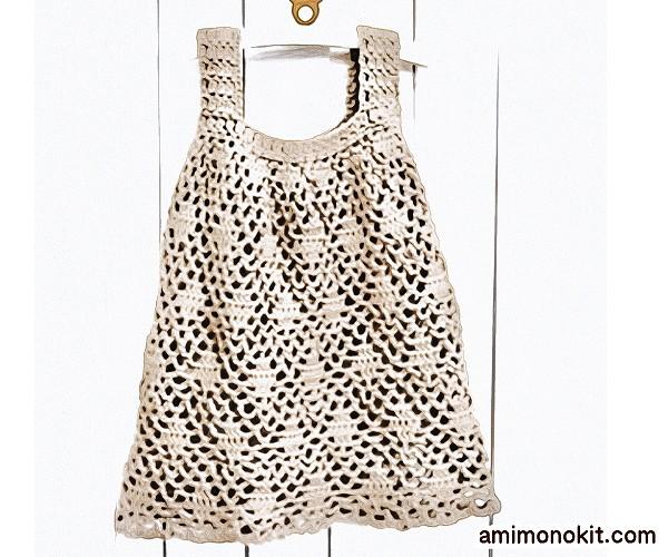 無料編み図Free Crochet Patternチュニックワンピお揃いコーデかぎ針編み3