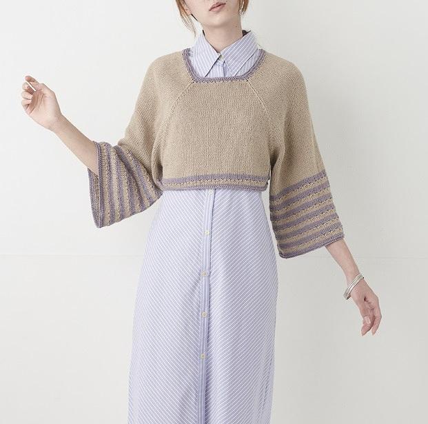 編み物キットプルハマナカフラックスkシルエットを選べるプルお袖
