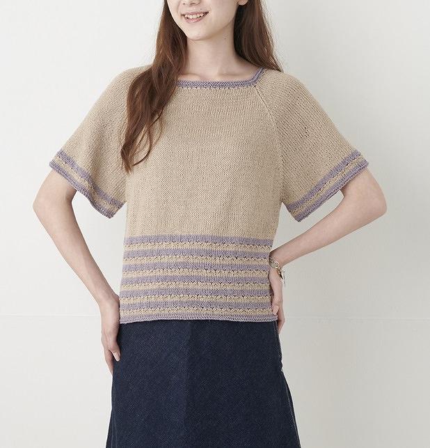 編み物キットプルハマナカフラックスkシルエットを選べるプル裾