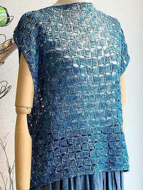 編み物キットパピー毛糸ポプラザンビアプリント石畳編みのプルオーバー
