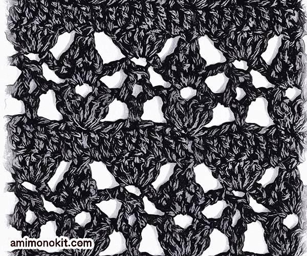 無料編み図Free Crochet Patternアームカバーかぎ針編みエレガント日除け3