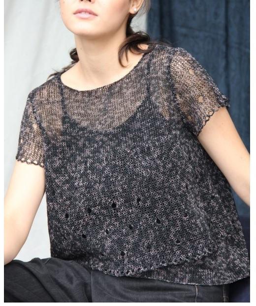 編み物キット棒針編み野呂英作雁皮テープ結城裾が可愛いプル1