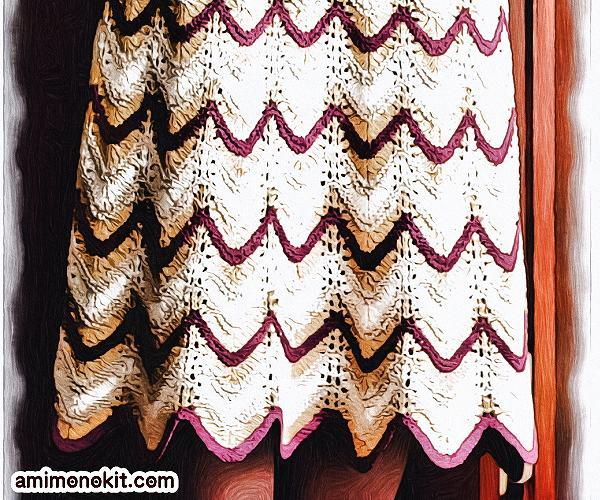 無料編み図Free Knitting Patternスーツ棒針編みアンサンブル入学式スカート3