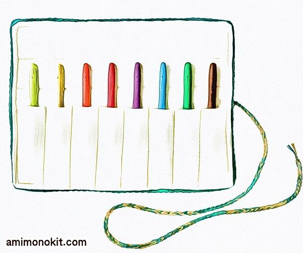 無料編み図Free Crochet Patternかぎ針ケースかぎ針編み編み物小物便利1