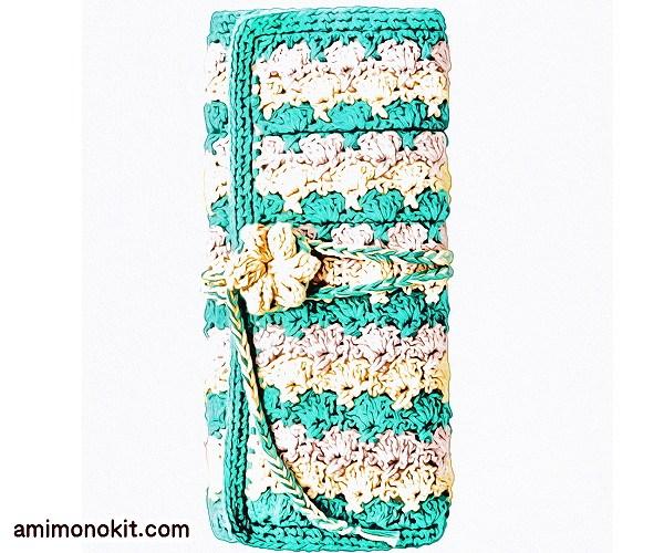 無料編み図Free Crochet Patternかぎ針ケースかぎ針編み編み物小物便利2