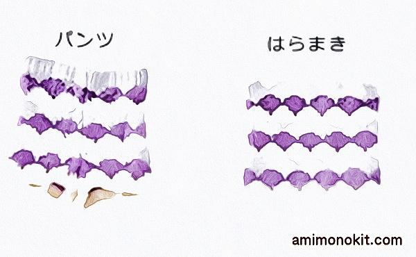 無料編み図Free Knitting Patternパンツ腹巻棒針編みキッズあったかハラマキ3