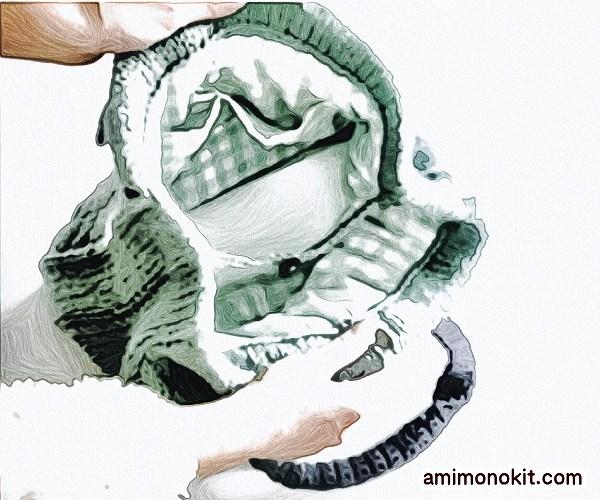 無料編み図Free Knitting Patternバッグ棒針編みアラン模様冬バッグ1
