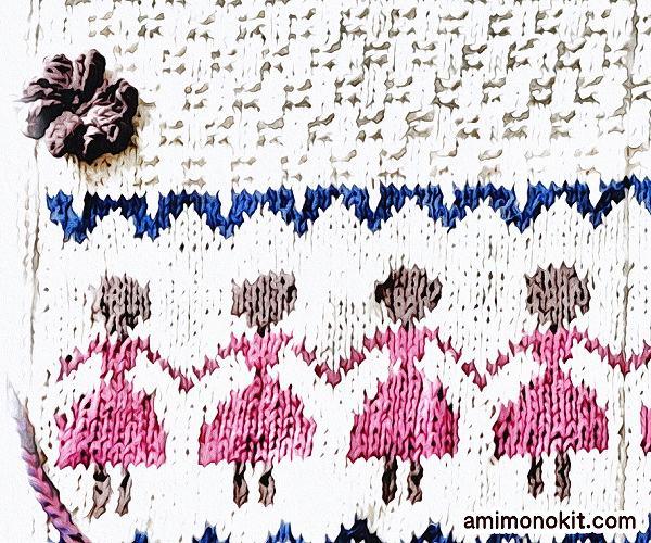 無料編み図Free Knitting Pattern棒針ケース棒針編み手作り収納編み物4
