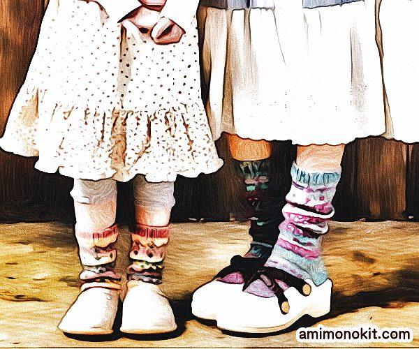 無料編み図Free Knitting Patternソックス棒針編み編み込み模様靴下北欧風可愛い手編み4