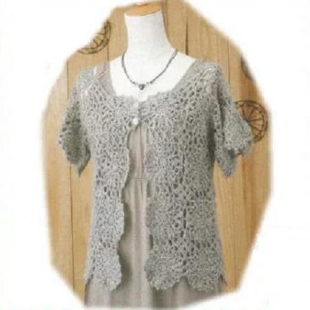 ボレロ編み物キットハマナカソノモノアルパカ毛糸でカーディガンかぎ針モチーフ