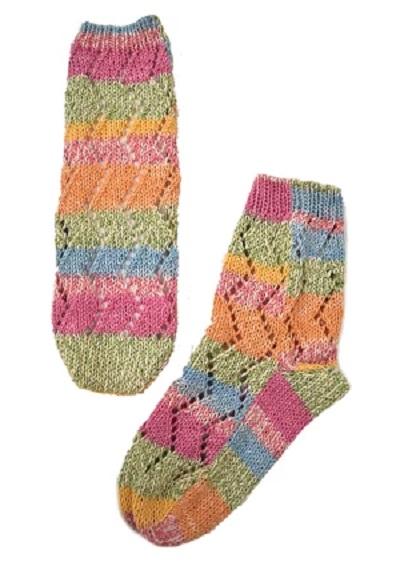 編み物キット靴下手編みソックス棒針編みキット透かし模様