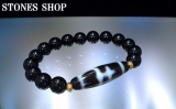 西蔵天珠 宝瓶天然黒水晶10mmBRNo2