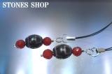 至純高級天珠宝瓶天珠 赤メノウカット ストラップNo2