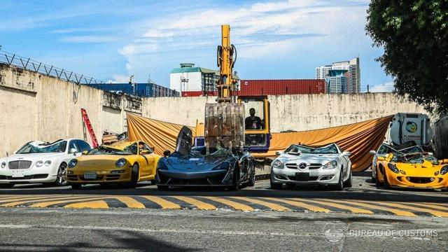 フィリピン 密輸 スーパーカー 破壊1 2021-6-19