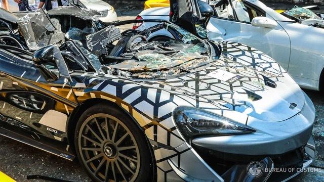 フィリピン 密輸 スーパーカー 破壊4 2021-6-19