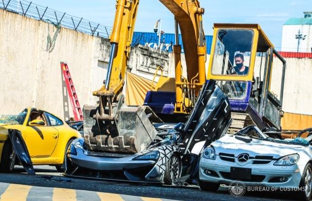 フィリピン 密輸 スーパーカー 破壊6 2021-6-19