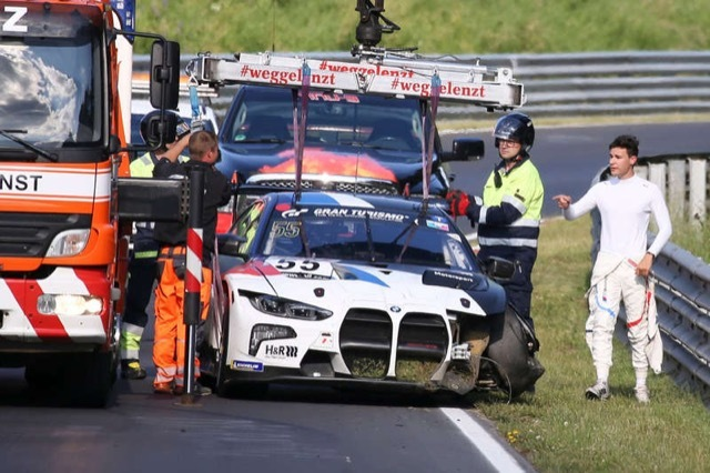 BMW M4 GT3クラッシュ 2021-6-27