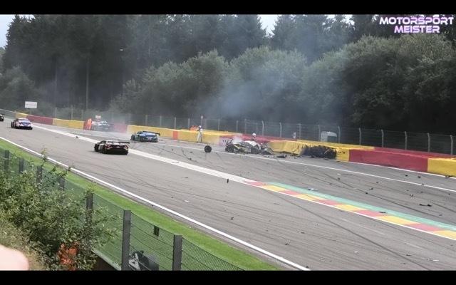 スパ24時間耐久レース事故1 2021-8-1
