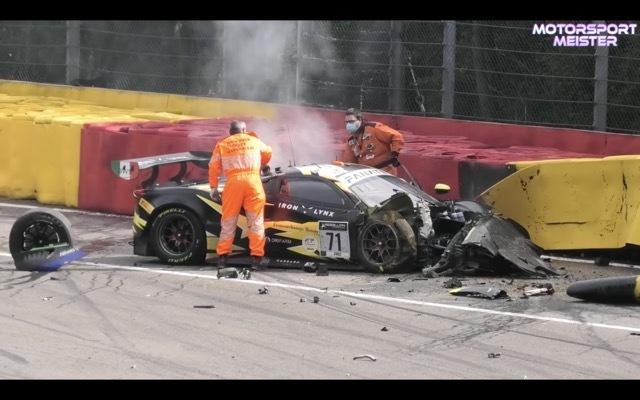 スパ24時間耐久レース事故2 2021-8-1