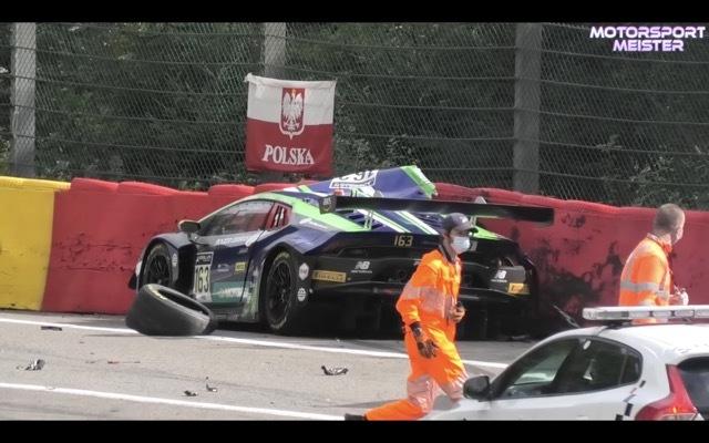スパ24時間耐久レース事故3 2021-8-1