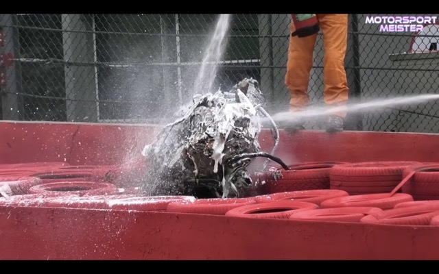 スパ24時間耐久レース事故4 2021-8-1