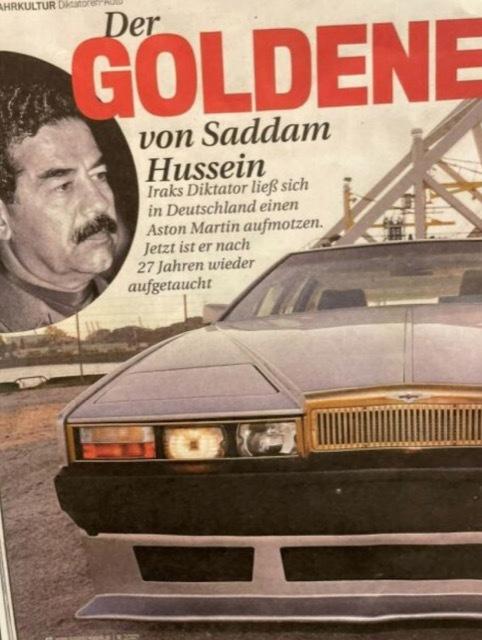 イラクの独裁者サダム・フセインのアストンマーティン6 2021-10-4