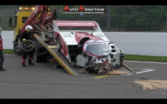 CRASH Porsche 962 C5 2021-10-19