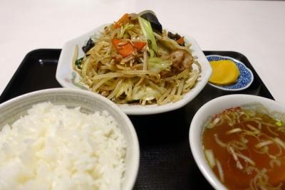 野菜炒めライス