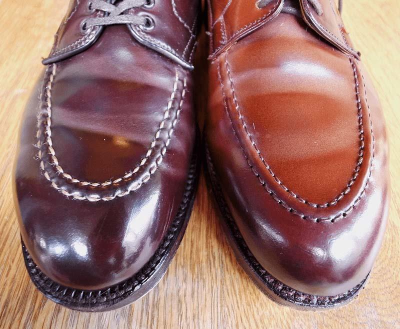 コードバン靴の皺が白くなってしまう問題の傾向と対策