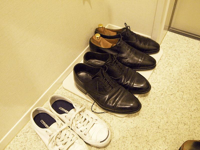 革靴梅雨対策