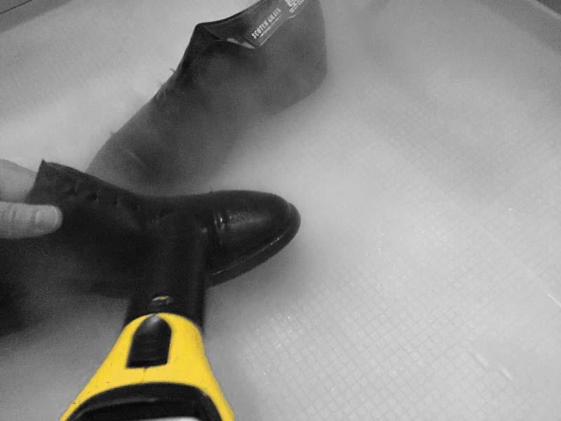 【メンテナンス】スチームを使って革靴の丸洗い|ケルヒャー スチームクリーナー
