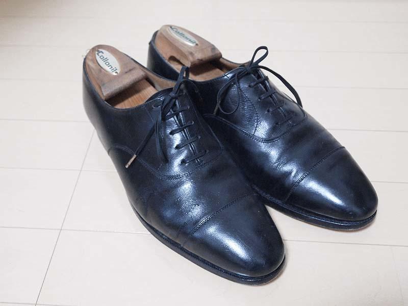 革靴ひび割れクロケットアンドジョーンズコノート1