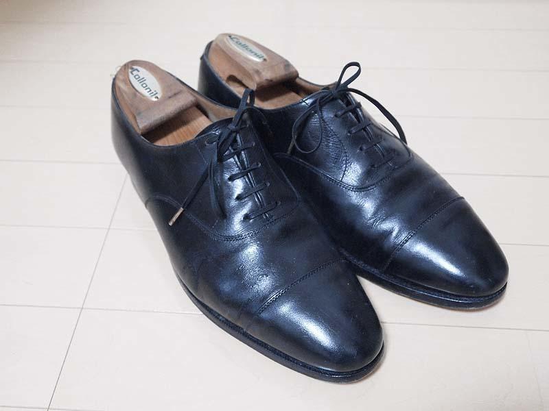 革靴写真_ひび割れ_コノート1