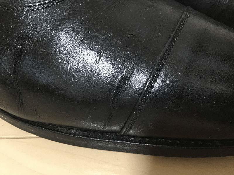 革靴ひび割れクロケットアンドジョーンズコノート3