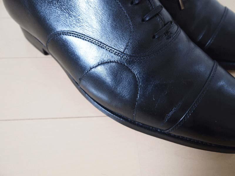 革靴写真_ひび割れ_コノート4